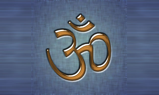 Mantra OM - Wikimedia (image has been modified)